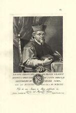 AMMANNATI PICCOLOMINI GIACOMO PESCIA PAPIENSE CARDINALE STAMPA ORIGINALE 1700