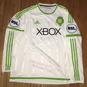 Seattle Sounders S2 USL Jimmy Ockford #21 Long Sleeve XL Game Used Soccer Jersey
