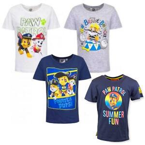 Boys Girls Paw Patrol T-Shirt Top Age 3 - 8 Years
