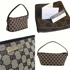 $295 NEW GUCCI BAG Purse GG LOGO CANVAS WITH CARDS & DUST COVER AUTHENTIC