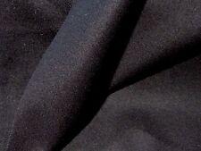 Black Pure Wool Twill Coating