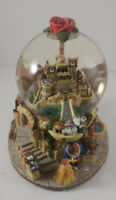 """Disney BEAUTY AND THE BEAST CASTLE MUSICAL SNOWGLOBE """"BEAUTY AND THE BEAST"""""""