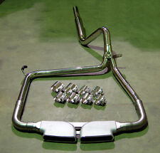 Catback Stainless Exhaust + Bandclamps + CME Center Mount Tip LS1 LT1 CAMARO SS