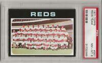 SET BREAK -1971 TOPPS # 357 REDS TEAM, PSA 8 NM-MT, JOHNNY BENCH, HOF, L@@K !