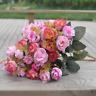 New 2 Bouquets 42 Head Artifical Rose Silk Flower Bouquet Home Wedding Decor