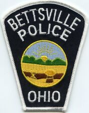 BETTSVILLE OHIO OH POLICE PATCH