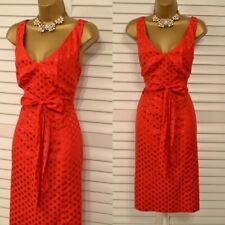 ~ MONSOON ~ Size 14 Red Silk Mix Dot Dress Suit Mother of the Bride Wedding