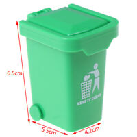 1/12 Miniature Education Dollhouse Garbage Trash Can Decor Gift Toy Kn