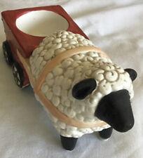 Yankee Candle Vintage Barnyard Sheep Pulling Cart Tealight Holders