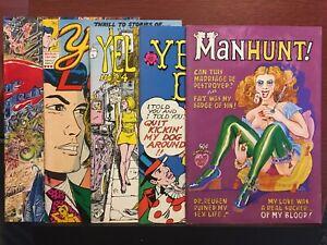 Underground Comix LOT Manhunt Kingdom Of Evil Young Lust Yellow Dog Print Mint 5