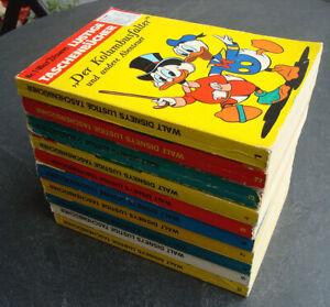 Lustiges Taschenbuch LTB 1 2 3 4 5 6 7 8 9 10, Auflagen 1971, schöne Zustände!