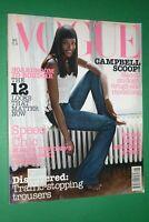 Vogue UK August 2002 Naomi Campbell Isabeli Fountain Frankie Rayder British