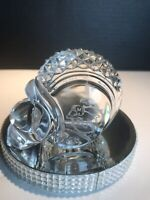 WATERFORD CRYSTAL FOOTBALL HELMET OFFICIAL NFL MIAMI DOLPHINS