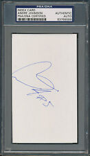 Andre Johnson Index Card PSA/DNA Certified Authentic Auto Autograph Signed *9589
