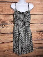 Old Navy Women's Black/White Floral Print Spaghetti Strap Dress Sz M Sleeveless