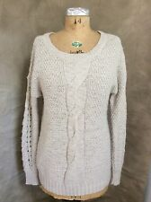 ECOTE Urban Outfitters CHUNKY WOOL SWEATER Cable Knit Heather OATMEAL M Medium