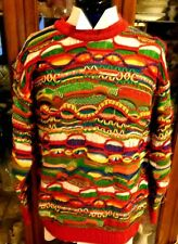 COOGI Sweater  VTG 90s FAB RARE L Christmas Vaporwave Biggie Cosby M Red Green