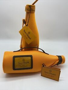 2 Veuve Clicquot Champagne Mesh Bottle Ice Jacket Sleeve Insulated Carrier Lot