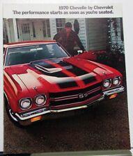 1970 Chevrolet Chevelle SS 396 454 Malibu Sales Brochure Original
