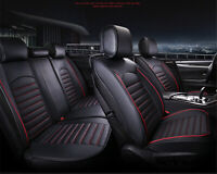 Deluxe Edition PU Leather Car Seat Cover Cushion 6D Full Surrounded with Pillows
