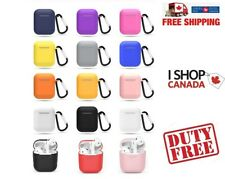 Silicone Case For Apple Airpods Protective Skin Cover Airpod 1 2 Clip Carabiner