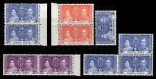Sierra Leone 1937 KGVI Coronation Issue MNH BLOCKS,PAIRS & SINGLES - 868M