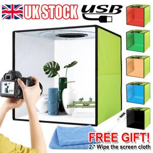 12'' LED Light Room Photo Studio Photography Lighting Tent Kit Backdrop Cube Box