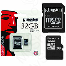 ORIGINALE SCHEDA DI MEMORIA KINGSTON MICRO SD SCHEDA 32gb per Samsung j1 mini Duos