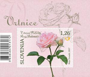 Slovenia 2017 * Flora - Prešeren' Rose - miniature sheet * MNH