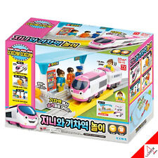 TITIPO & Friends-Electric Train GENIE,Train Station Play Toy (Not included Rail)