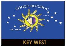 """KEY WEST CONCH REPUBLIC FLAG FRIDGE COLLECTOR'S SOUVENIR MAGNET 2.5"""" X 3.5"""""""