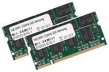 2x 1GB 2GB RAM Speicher Medion MD95135 MD95143 MD95144 333 MHz Samsung PC2700