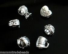 25pcs assorted metal spacer beads fit snake chain