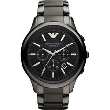 NEW EMPORIO ARMANI AR1451 BLACK CERAMICA CHRONOGRAPH MEN'S WATCH UK
