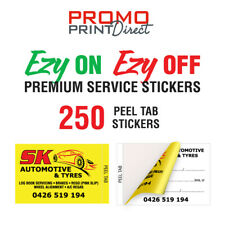 250 Custom Vehicle Car Tyre PREMIUM Service Rotation Lube Stickers FREE Post