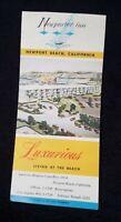 VGUC~Newporter Inn Newport Beach CA USA Hotel Motel Resort Brochure~True Vintage