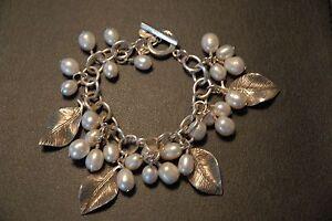 SILPADA - B1631 - Freshwater Pearl Oxidized Sterling Silver Bracelet - RET