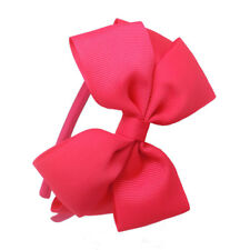 Kids Girls Cute Bow Hair Bands Satin Fabric HeadBands Rose Red Hairband