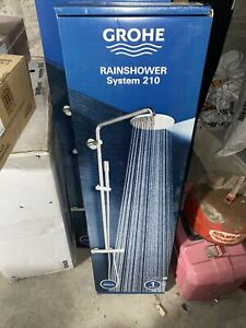 Grohe Rainshower 210 Shower Thermostatic Shower Bar Wall Mounting 27032 $1500