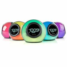 NEW iHome Bluetooth Color Changing Dual Alarm Clock Radio USB Charging Speaker