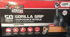 50 Grease Monkey Heavy Duty Automotive Nitrile Gloves Size Large Latex Free