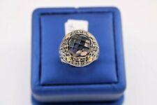 Greg Anthony 18k Yellow Gold & 925 Sterling Silver Smokey Topaz Ring