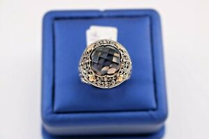 Greg Anthony 18k Yellow Gold & 925 Sterling Silver Smokey Topaz Ring