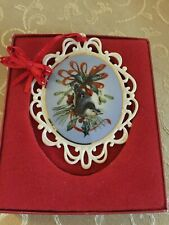 Lenox Winter Greetings Ornament Nuthatch By Catherine McClung Usa Christmas Bird