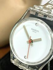 Swatch SNOW MACHINE White Dial Stainless Steel Ladies Watch Petite 25mm LK350G