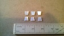 6 Trapezoid White Mother of Pearl Pieces for Inlay 11 mm   Vintage Stock