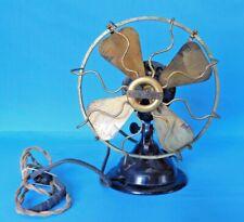 "Antique Menominee Electric Mfg Co~Fan Black/Gold Brass ""Working"" Serial #A15162"