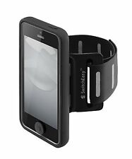 Apple iPhone 5 5S SE Case Move Sports Armband TPU Cover 2 Straps Size Black New