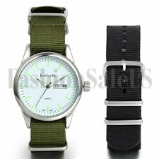 New Solider Military Army Sport Style Luminous Canvas Belt Quartz Wrist Watch