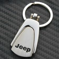 Metal Key chain Ring Fob Jeep Grand Cherokee Wrangler Compass Chrome CJ CJ5 New